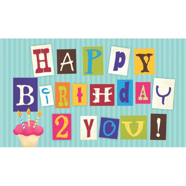 "Greeting Card With ""happy Birthday 2 You!"" On The Front Photo"