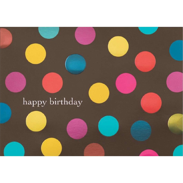 "Greeting Card With ""happy Birthday"" And Embossed Dots On The Front Photo"
