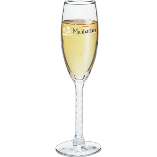 5 3/4 Oz. Champagne Flute With Twisted Stem Photo