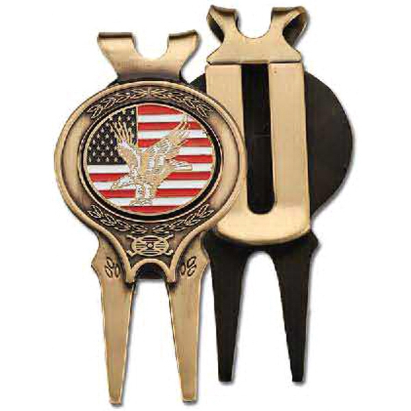 Solid Brass Divot Tool With Custom Ball Marker Photo
