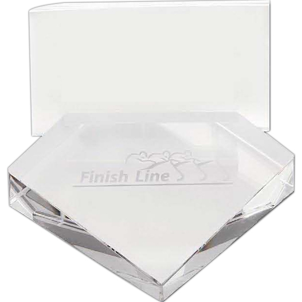 Crystal Custom Engraved Business Card Holder Photo