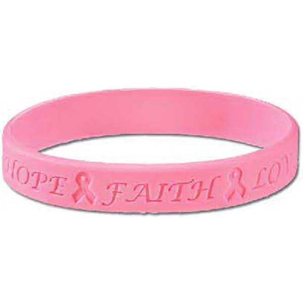 Stock Breast Cancer Awareness Debossed Silicone Bracelet Photo