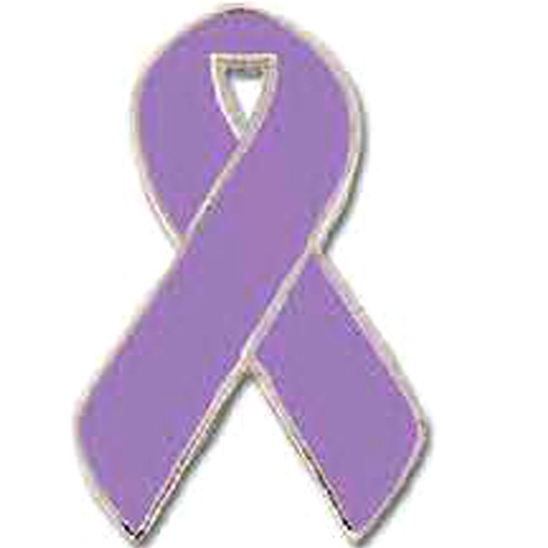 "Stock Cancer Awareness Ribbon Lapel Pin, 1"" Photo"