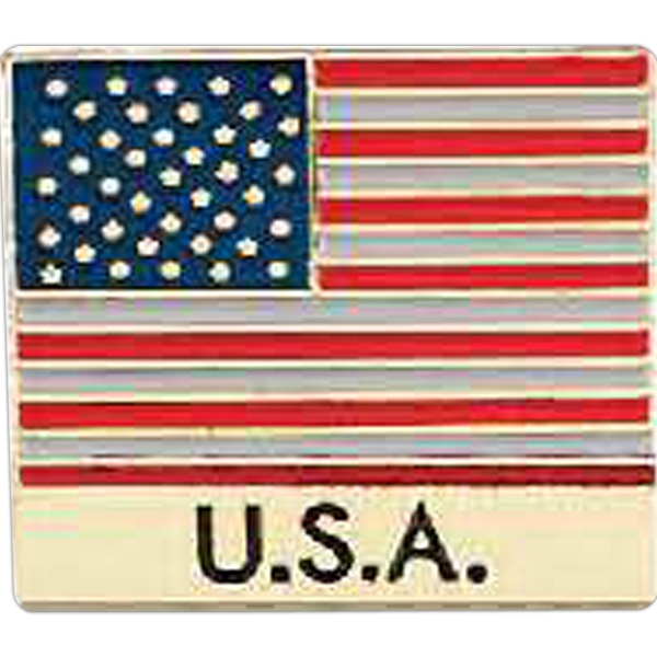 "Stock American Flag Lapel Pin, 7/8"" Photo"