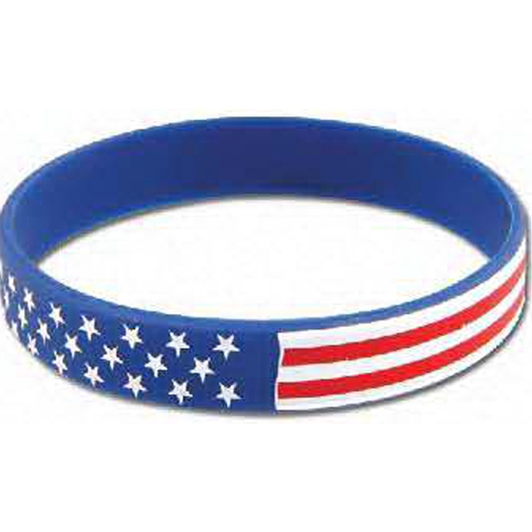 Stock American Flag Silicone Bracelet Photo