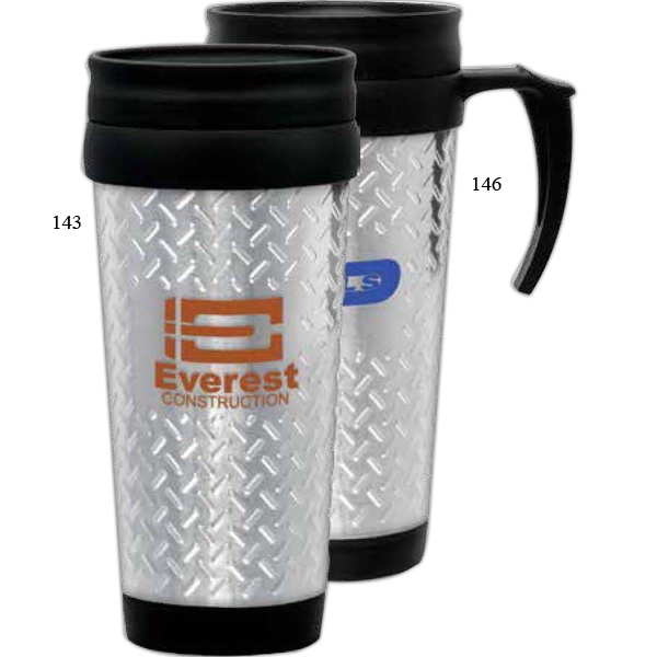 Stainless Steel 14 Oz Tool Box Design Travel Mug With A Plastic Liner Photo