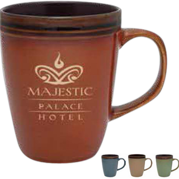 Blue - Reactive Glaze Antigua Collection Mug. 14 Oz Photo