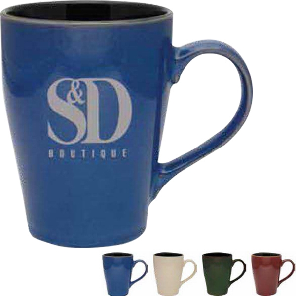 Reactive Glaze Ceramic 16 Oz Blue Mug Photo