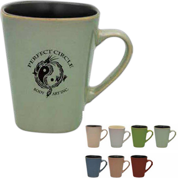 Tan - Reactive Glaze Mug, 14 Oz Photo