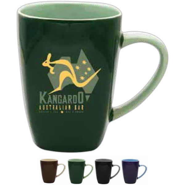 17 Oz Green Ceramic Mug Photo