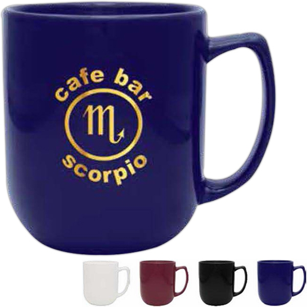 Maroon Ceramic Mug, 17 Oz Photo