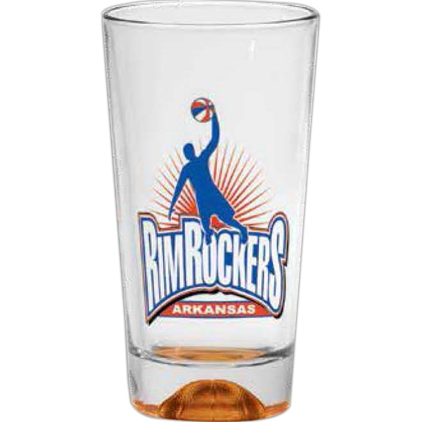 Basketball Sport Bottom - Sport Bottom Pint Glass, 16 Oz Photo
