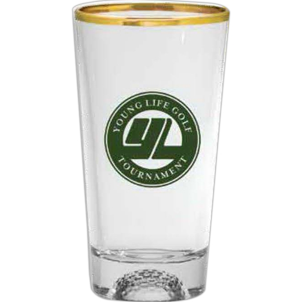 Golf Ball Sport Bottom - Sport Bottom Pint Glass, 16 Oz Photo