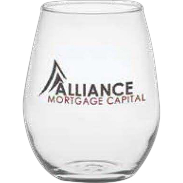Stemless Mini White Wine Glass Photo