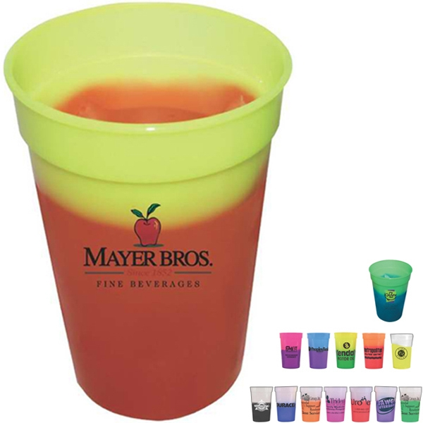 Mood - 1 Side - 17 Oz. Stadium Cup Available With Assorted Colors, Full Color Digital Photo