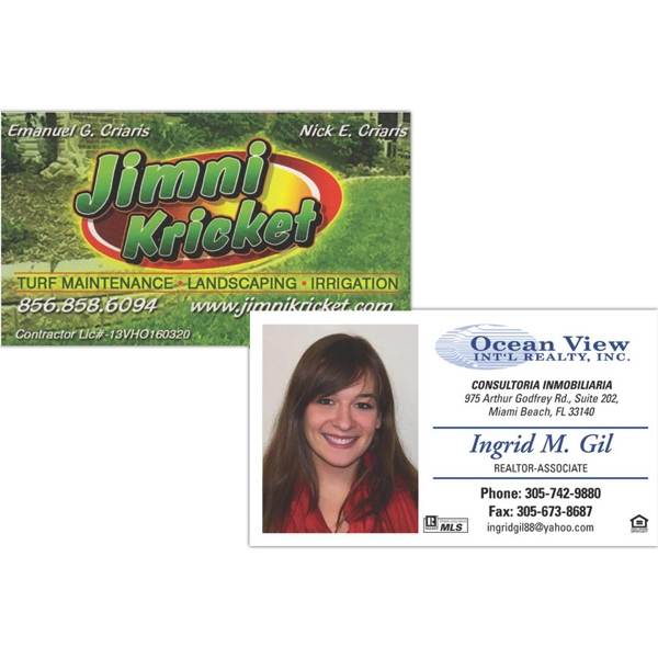 Business Card Magnet, Approx. .025 Thickness, Full Color Digital Photo