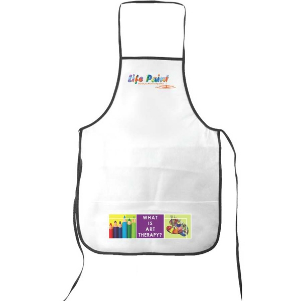 Non Woven All Purpose Full Length Apron, Full Color Digital Photo