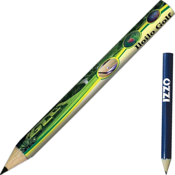 Golf Pencil Made Of Quality Wood, Full Color Digital Photo