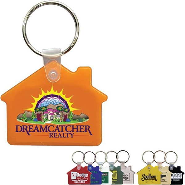 Soft Key Fob, House Shape, Full Color Digital Photo
