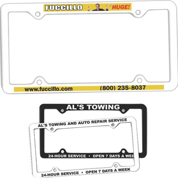 Thin Panel License Plate Frame, Full Color Digital Photo