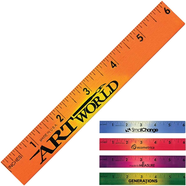 "Mood - 6"" Wooden Ruler Photo"