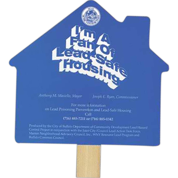 House - Stock Shaped Hand Fan, 16 Point Board Photo