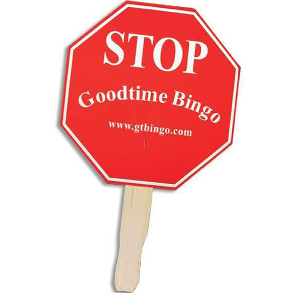 Stop Sign - Stock Shaped Hand Fan, 16 Point Board Photo