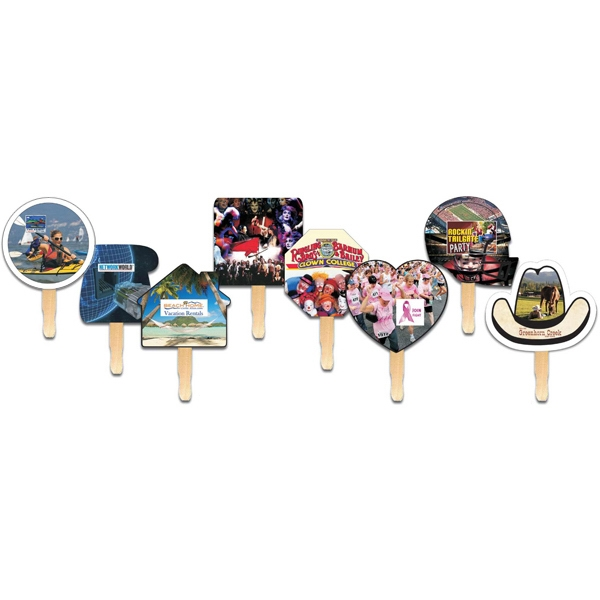 Square - Digital Printed Hand Fan On 16 Point Board Photo