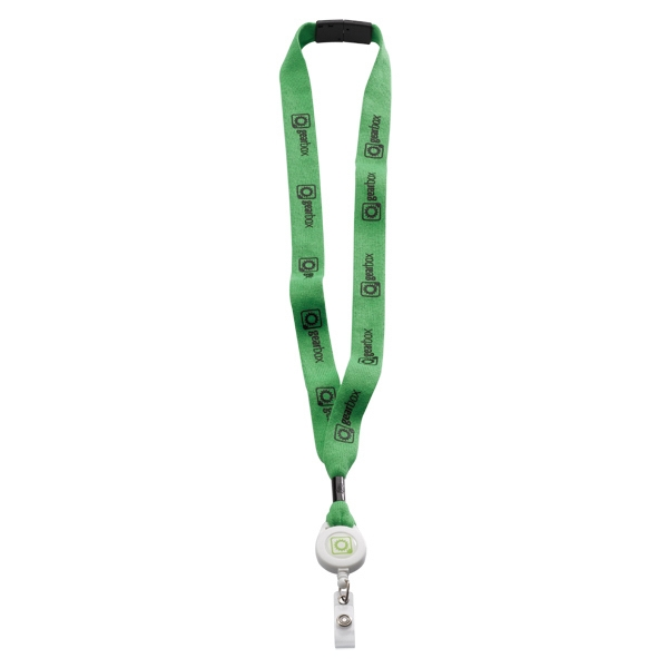 "3/4"" Cotton Lanyard With Metal Crimp & Split Ring Photo"