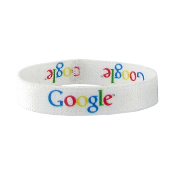 "1/2"" Dye Sublimated Stretchy Elastic Polyester Bracelet Photo"