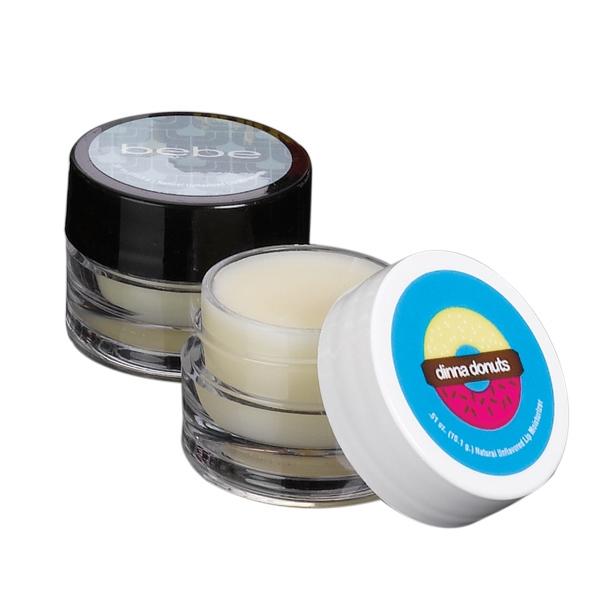 Natural Lip Moisturizer in Round Jar - Natural Lip Moisturizer in Clear Round Jar.
