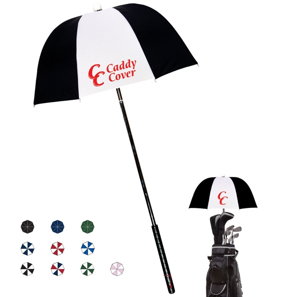 "Golf Caddy Cover With Built In Spring On The Shaft And Rubber Handle; 32"" Arc Size Photo"