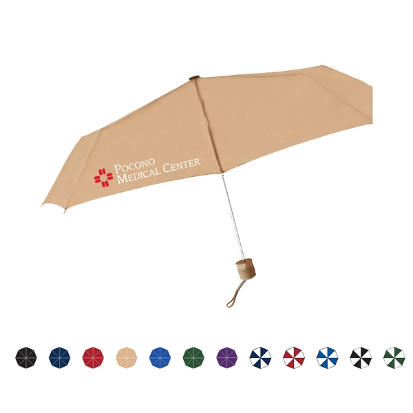 "Poco Manual Open Folding Umbrella With Matching Rubberized Handle, 43"" Arc Photo"