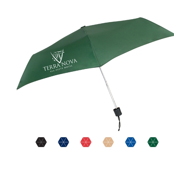 "Nova Manual Open & Close Umbrella With A Lightweight Frame And Steel Shaft; 42"" Arc Photo"