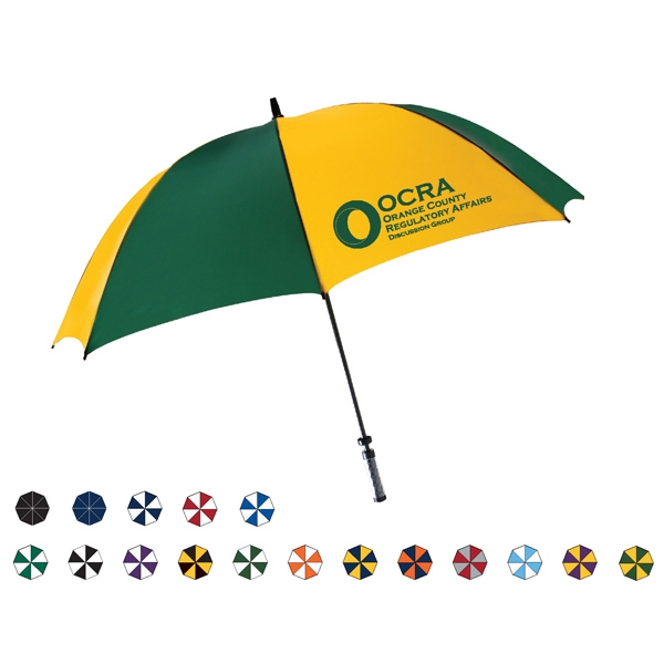 "I.d. Pro Manual Open Golf Umbrella With Id Handle, 60"" Arc And Pinch Proof Runner Photo"