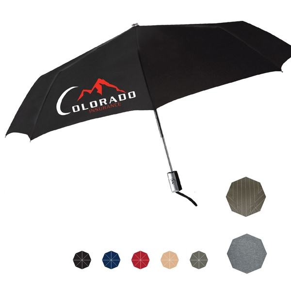 "Manhattan Umbrella With Two Tone Rubberized Handle And Teflon (r) Coating; 43"" Arc Photo"