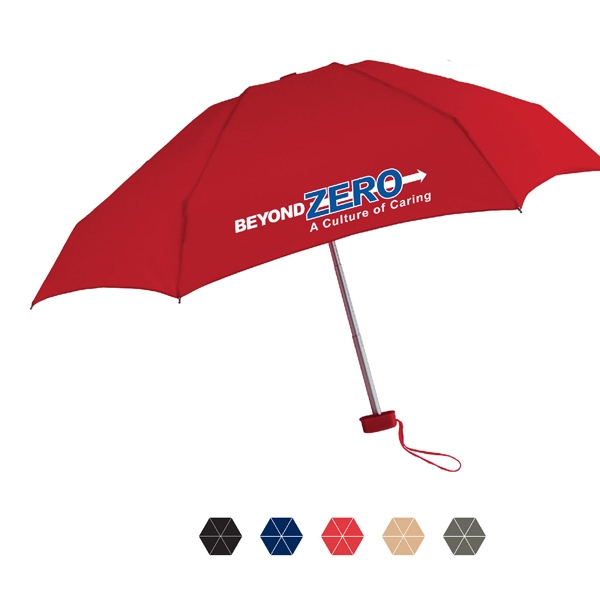 "Genie Folding Umbrella With Polyester Fabric And Matching Rubberized Handle; 40"" Arc Photo"
