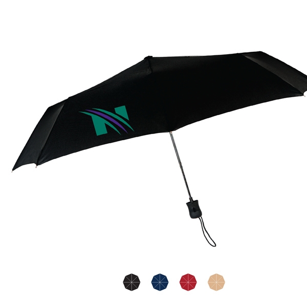 "Fashion Francesca Auto Open And Close Umbrella With Windproof Steel Frame; 43"" Arc Photo"