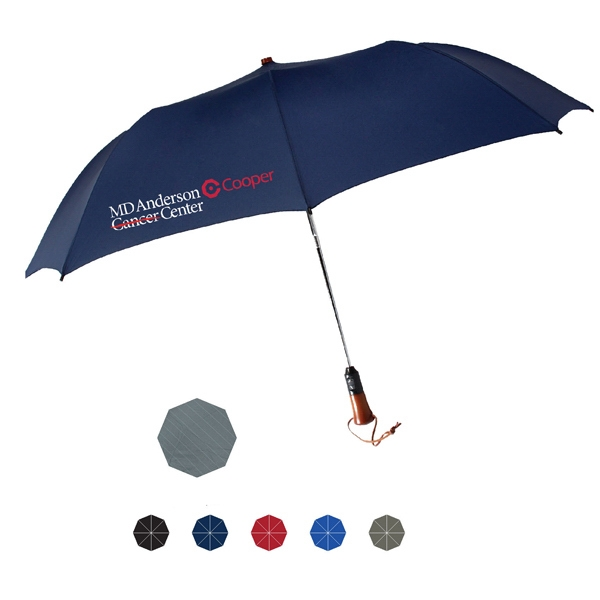 "Magnum Fashion Automatic Open And Close Umbrella; Polyester Fabric; 56"" Arc Photo"