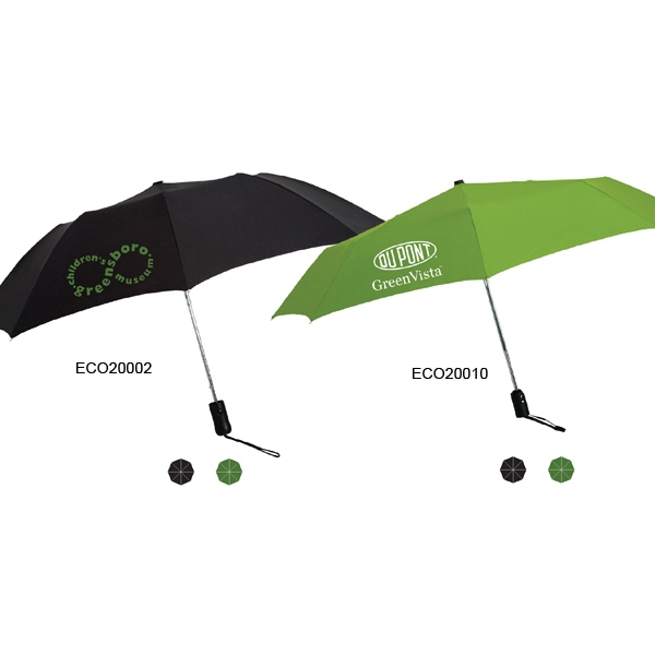 "Protector Eco Friendly Umbrella With Shredded Wood Handle & Matching Sleeve; 43"" Arc Photo"