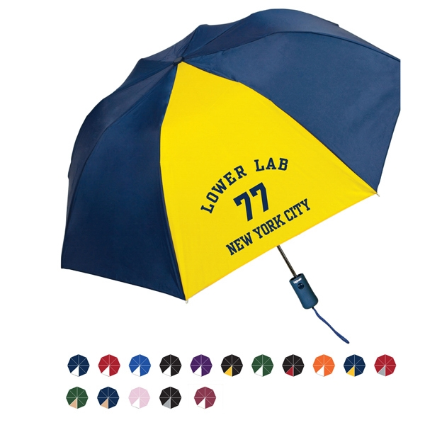 "Pakman Automatic Open Nylon Umbrella With Steel Wind Resistant Frame; 43"" Arc Photo"