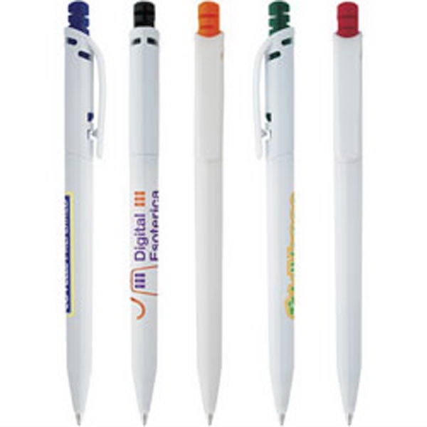 Promo Click - Plunger Action Slim And Trim Pen With Clip Photo