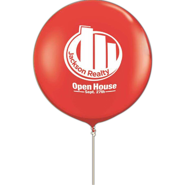 "Qualatex (r) - 36"" Round Giant Latex Balloon With One-color/one-side Imprint Photo"