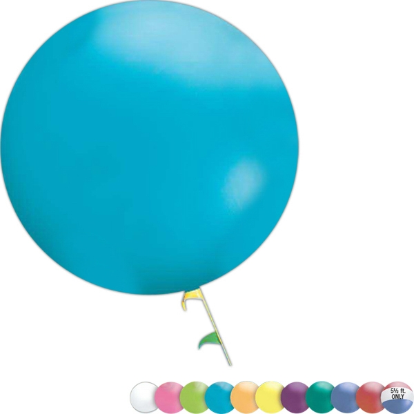 Cloudbuster (tm) - 5.5' - Balloon Made Of Raw Latex Materials, Blank Photo