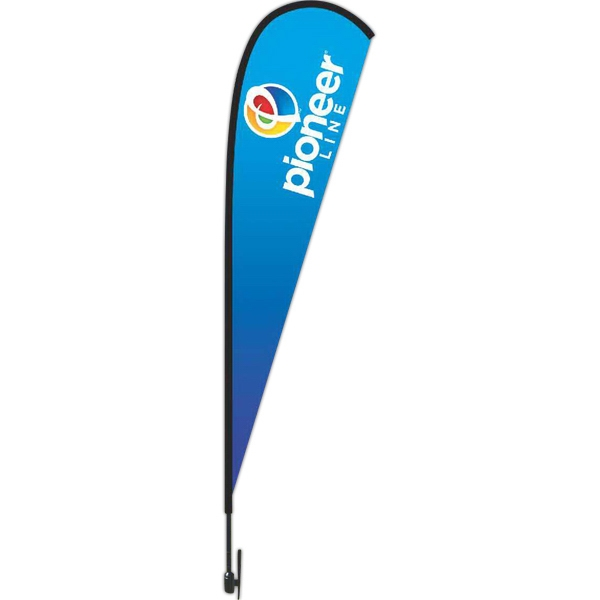 Promotional 11 Foot Tear Drop Flag Kit Made Of Nylon. Nylon Carrying Case Included Photo