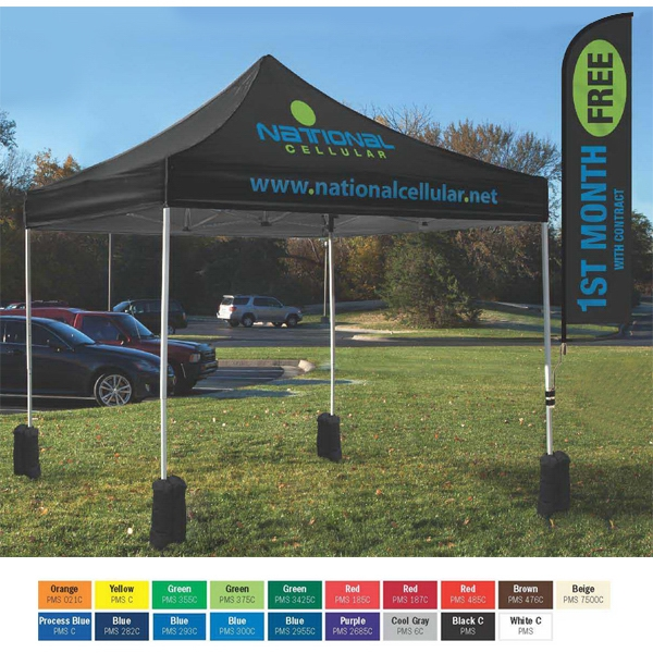 Full Bleed - 8 Locations - Durable Event Tent Canopy And Frame With 600 Denier Storage Bag Photo