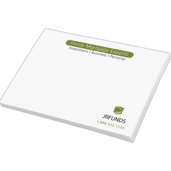 "Custom Printed Notepad - Notes - 3"" x 4"", 50 sheets, 1 color - custom printed notepads."