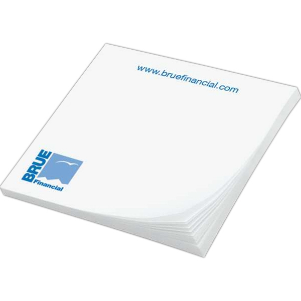 "Custom Printed Notepad - Notes - 2 3/4"" x 3"", 50 sheets, 1 color - custom printed notepads."