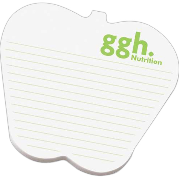 "Custom Printed Notes Shapes - Medium custom printed die cut note pad cut from 3"" x 4"" pad with 50 sheets."