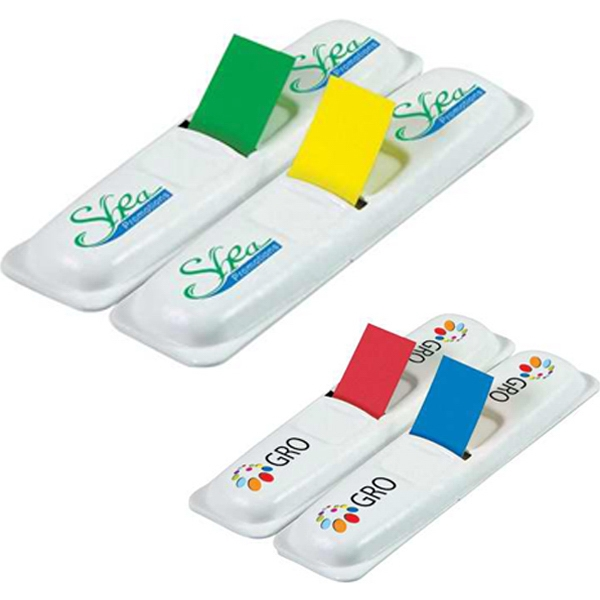 "Post-it (r) Brand - Designer 2 Flag Dispenser With 70 1/2"" Flags, 2 Color Imprint Photo"